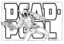 Deadpool Printable Coloring Pages Enjoy Coloring Kids Activities