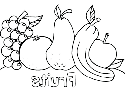 Coloring Pages Fruit Coloring Pages For Preschoolers Fruits And