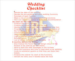 11+ Wedding Checklist Templates – Free Sample, Example, Format ...