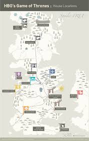 Game Of Thrones Great Houses Map