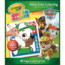 Amazon Com Crayola Paw Patrol Color Wonder Mess Free Coloring Pad