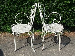 vintage iron patio furniture. Contemporary Iron FurnitureInspiring Vintage Patio Chair Solid Sturdiness And Durability  Steel Material Simple White Paint Finish To Iron Furniture