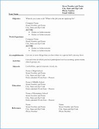 Free Sample Resume Templates Wonderfully Blank Resume Template Pdf