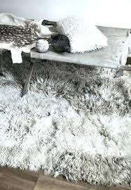 large grey faux fur rug grey fur rug gr st large faux grey fur rug faux
