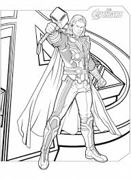 Your kid will surely enjoy these hulk pictures to color anytime. Avengers Character Thor Endgame Coloring Pages