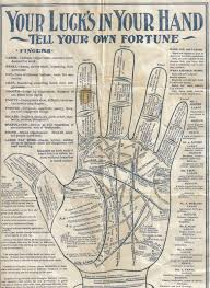 Vintage Palmistry Tell Your Own Fortune Chart