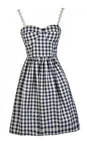 A Line Dress Pattern Classy Navy Gingham Dress Cute Gingham Dress Gingham Pattern Dress Navy