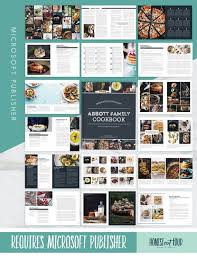 Publisher Cookbook Template Recipe Template Cookbook Template For Microsoft Publisher