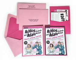 custom pink comic book wedding invitation kit invitation, pocket Custom Wedding Invitation Inserts custom pink comic book wedding invitation kit invitation, pocket, inserts, addressed envelopes Insert Wedding Invitation Etiquette