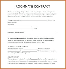 House Rules For Roommates Template Roommate Contract Template Agreement Form Free Download