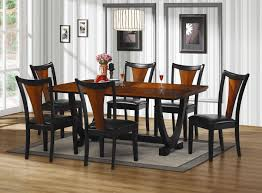 cherry wood dining table. Boyer Black And Cherry Wood Dining Table Set