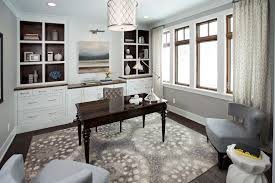 office rug. Concrete Office Interior Home Transitional With Graphic Area Rug Curtain Panels