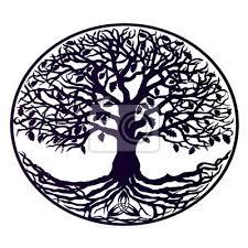 Fototapeta Tetování Je Strom života Krásný Strom S Hustými Kořeny Purpurovým