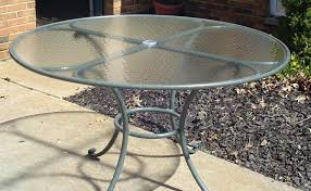 round glass patio tables replacement table the new way photo on extraordinary replace cost to bay inch top repair parts