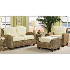 wicker furniture for sunroom. Natural Sunroom Furniture For Interior Decor Idea: Ratan With Ivory Cuhsion Contamporary Wicker