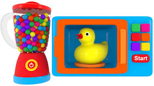 Colors For Children To Learn With Microwave And Blender Toy