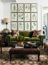hunter green living room framed plant wall decor