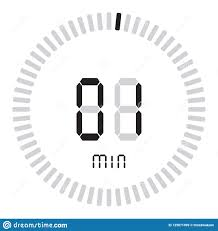 1 Minute Countdown The Digital Timer 1 Minute Electronic Stopwatch With A