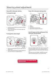 Steering wheel adjustment | TOYOTA LAND CRUISER V8 User Manual ...