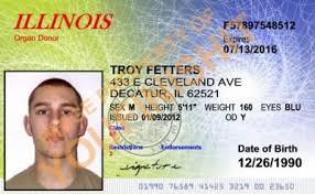 Illinois Id Id Card Od Od Card Illinois Illinois