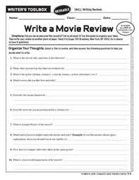 How To Write A Movie Review Write A Movie Review Worksheet Review Essay Teaching