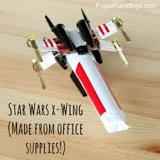 cool office gear. Star Wars X-Wing (Made Out Of Office Supplies!) Cool Gear