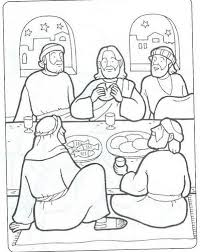 Small Picture New Testament Coloring Pages LAST SUPPER LTIMA CEIA BIBLEKIDS
