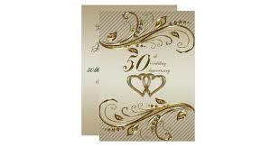 50th wedding anniversary invitations & announcements zazzle canada Blank Golden Wedding Invitations 50th wedding anniversary invitation card blank 50th wedding anniversary invitations
