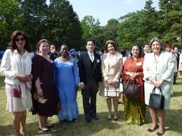 ambasador bojana adamovic with japanese minister for foreign affairs fumio kishida and ambassadors of the czech republic columbia india honduras and