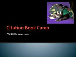 Ppt Citation Book Camp Powerpoint Presentation Id2405238