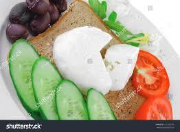 Light Mozzarella Cheese Nutrition Light Mozzarella Bread Vegetables On Plate Stock Photo Edit