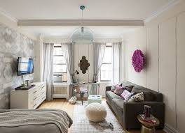 Decorating Studio Apartments Gorgeous Energizing And Feminine Small Studio Apartment In Manhattan
