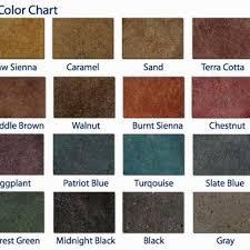 Kemiko Color Chart Kemiko Acid Stain Color Chart Yelp