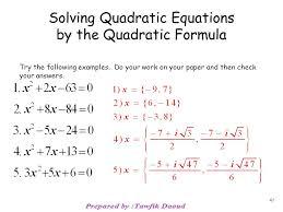 47 solving quadratic