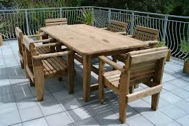 look out for outdoor table and chairs that are easy to