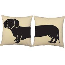 amazoncom set of  roomcraft dachshund throw pillows x inch