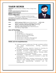 8 Cv Samples For Job Application Resume Language