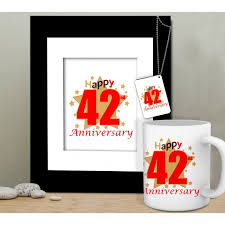 42nd Wedding Anniversary Gift For Husband Wedding Anniversary Gift