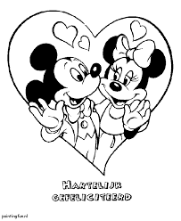 Mickey Minnie Book Coloring Pages Print Coloring