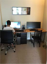 Stylish office desk setup Workspace Creative Home Design Stylish Two Person Desk Home Office As If Desk Home Fice Team Fan Girl Creative Home Design Interesting Two Person Desk Home Office