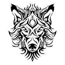 wolf face drawing tribal. Interesting Wolf Wolf Face Head Or Design For Tribal Tattoo Style Vector Royalty  Free Cliparts Vectors And Stock Illustration Image 99800634 On Drawing N