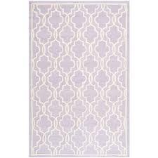 safavieh cambridge lavender ivory 6 ft x 9 ft area rug