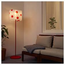 Solvinden Staande Led Lamp Op Zonnecellen Buiten Gestippeld Rood