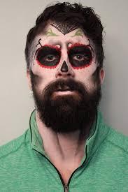 bearded men s sugar skull makeup by krystal erson