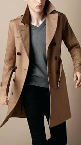 brown trench coat men men brown leather hooded steampunk goth military trench coat overcoat home decor