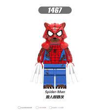 lego Phim hoạt hình dễ thương người nhện siêu nhân bằng gỗ khối xây dựng đồ  chơi hoạt hình đồ chơi giáo dục