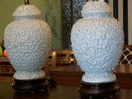 blanc de chine ginger jar lamps
