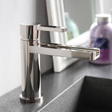 polished nickel modern bathroom faucet