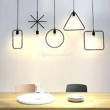 geometric hanging light industrial pendant creative loft iron lamp lighting fixtures multi pendants from gold small