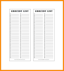 grocery list template printable blank list template blank grocery list blank packing list template